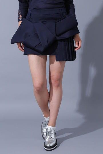 BK/ラチネリボンスカート