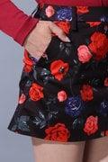 BK/ハイパワーストレッチローズプリントスカート
