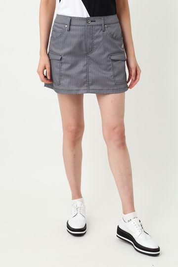 WH/ヘリンボンプリントスカート