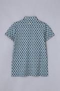 BK/ モスクプリント 鹿の子ポロシャツ