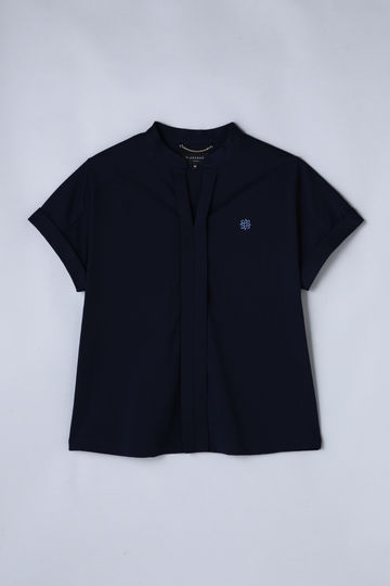 【Outlet】BK/コンパクトクレープ ブラウス