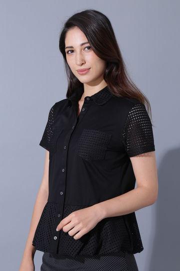 BK/スーピマハイゲージスムースポロシャツ
