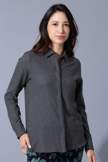 BK/TRストレッチドットシャツ