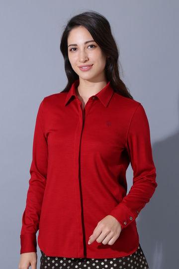 BK/Wファインウールシャツ(WOMENS)