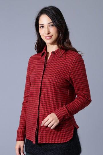 BK/千鳥ジャガードシャツ (WOMENS)