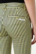 WH/綿サテンストレッチストライププリントパンツ (WOMENS)