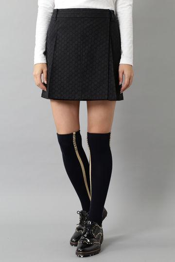BK/ドットジャガードスカート (WOMENS)