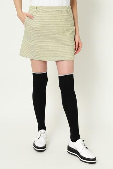 WH/3色チェックドビーストレッチスカート (WOMENS)