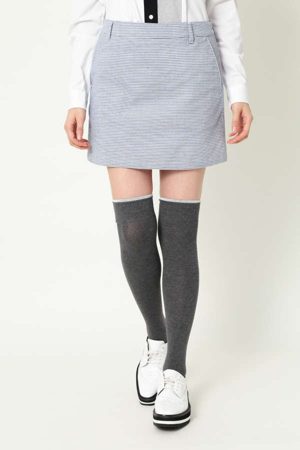 WH/3色チェックドビーストレッチスカート