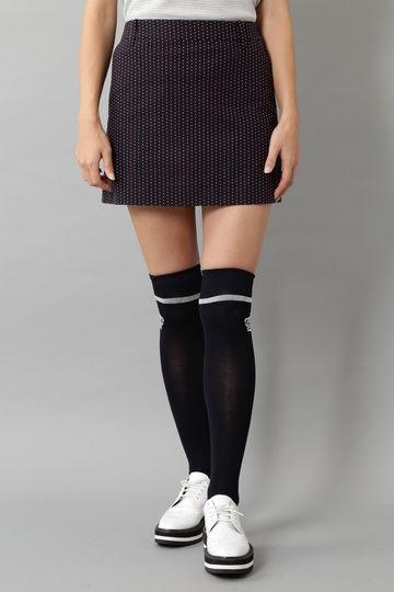 BK/ピンドットジャガードスカート (WOMENS)