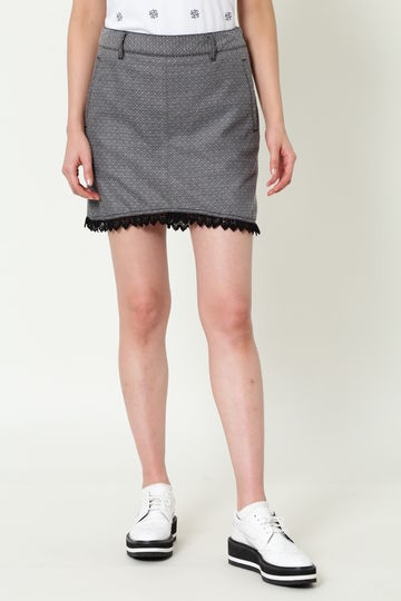 WH/シードジャガードストレッチスカート (WOMENS)