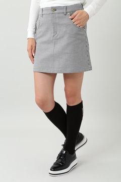 変形千鳥ジャガードスカート (WOMENS)