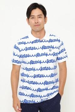 カノコ 半袖 ポロシャツ <波ロゴ柄>