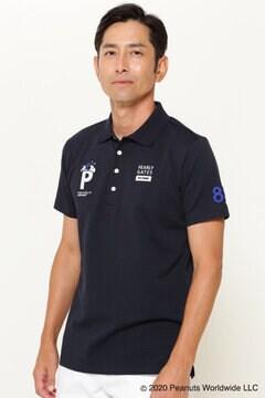 【SNOOPY】SNOOPY ハイ凹凸 ジャガード 半袖 ポロシャツ