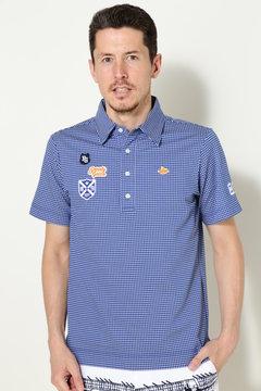 ハイゲージチェックジャガード 半袖ポロシャツ