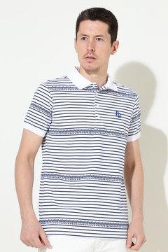 クールマックス カートボーダー柄 半袖ポロシャツ