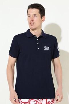 マーケットロゴ ディライトカノコ 半袖ポロシャツ