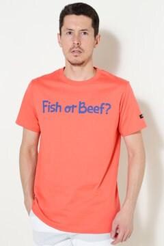 コットン天竺 Fish or Beef 半袖Tシャツ