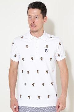 タックカノコ ホットドッグエンブ 半袖ポロシャツ