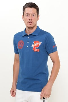 コットン カノコ 半袖ポロシャツ
