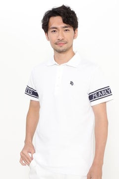 袖ライン ロゴ 半袖ポロシャツ