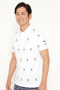 強撚 エンブ カノコ 半袖 ポロシャツ