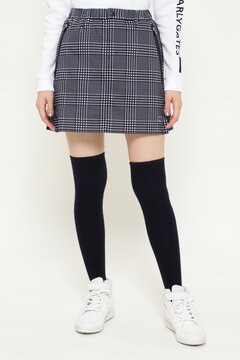 タフレックス×サーモトロンストレッチ グレンチェックプリント スカート <GLENCHECK SERIES>