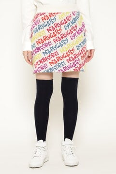 らくがきBIGロゴ/カラフルロゴ ニットスカート