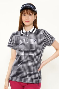 グレンチェック カノコ ジャガード 半袖 ポロシャツ <GLENCHECK SERIES>