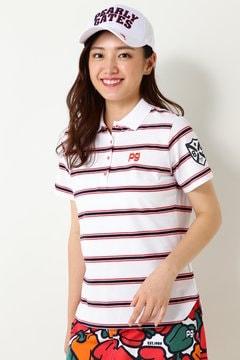 天竺×カノコボーダー 半袖ポロシャツ