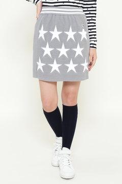星インターシャ ニット スカート