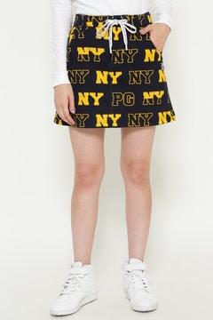 ダンボールニット NY ロゴ柄 ミニスカート