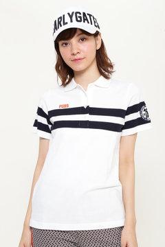 パネルボーダー カノコ 半袖 ポロシャツ
