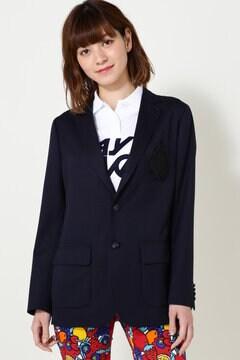 ウールギャバ テーラード ジャケット
