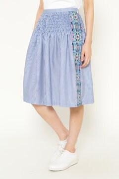 サイドジャガードストライプ スカート