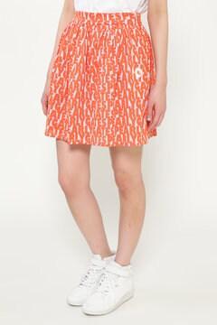 メッシュベア ロゴプリント ギャザースカート