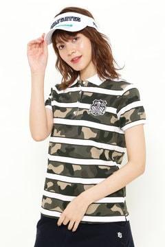 カモボーダー柄 カノコ 半袖ポロシャツ