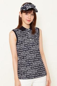 カノコ ダブル フェイス スリーブレス ポロシャツ <I'm PEARLY GATESロゴプリント>