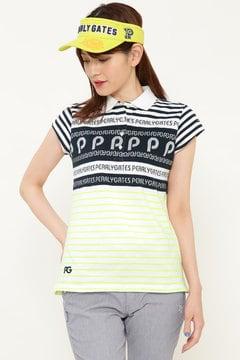 ロゴジャガード カノコ 半袖ポロシャツ