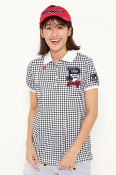 ディライトカノコ 半袖ポロシャツ <ギンガムチェック柄>