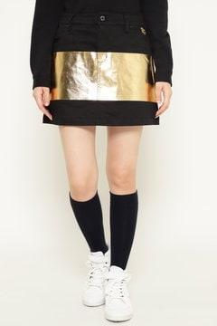 GOLD/カツラギストレッチ 箔プリント スカート