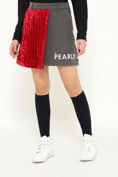 コンパクト2way ギャバ接結二重織り×Peベルベット スカート