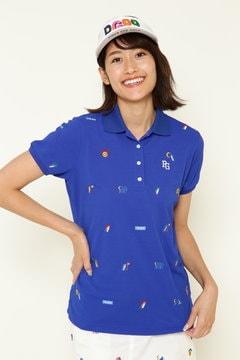 DRY-X カノコ エンブ 半袖ポロシャツ<LOTTE COOLMINT コラボアイテム>