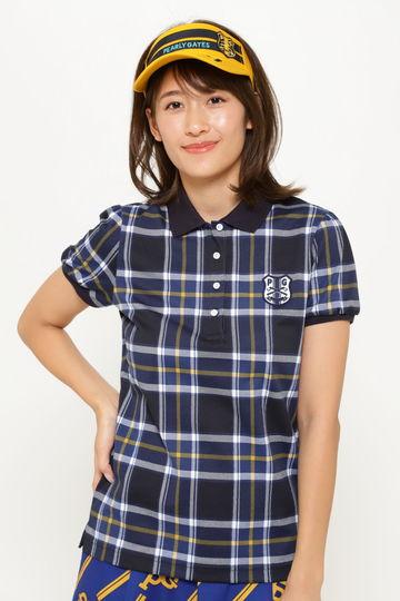 スーピマ カノコ 半袖 ポロシャツ <チェック>