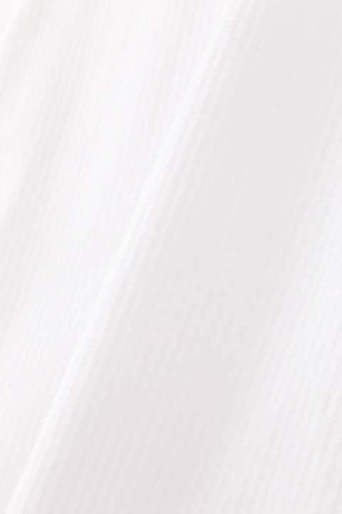 サテンストライプシャツブラウス