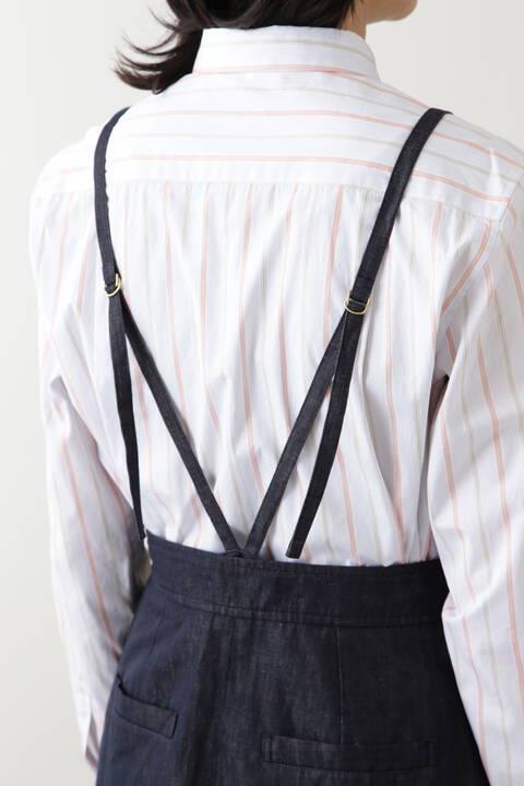 綿麻反応染めライトデニムスカート