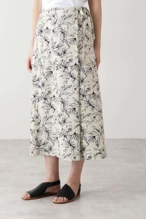 アートワークプリントスカート