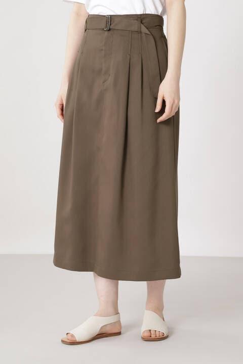 リサイクルポリエステルツイルスカート