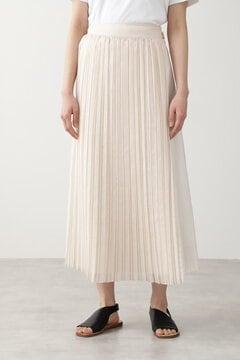 【先行予約 4月下旬-5月上旬入荷予定】オーガンジープリーツスカート