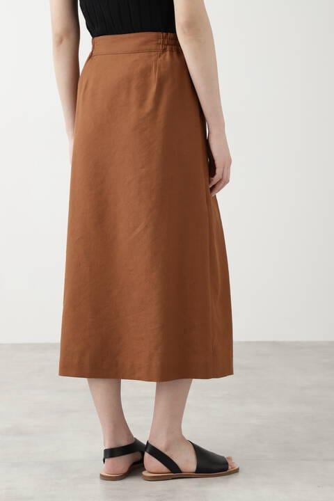 ポリエステル/レーヨンリネンスカート